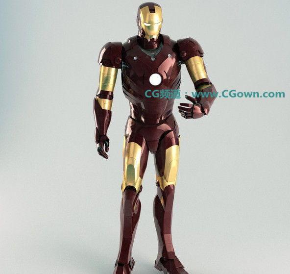 3ds Max 钢铁侠绑定源文件Turbosquid – Iron Man Rigged