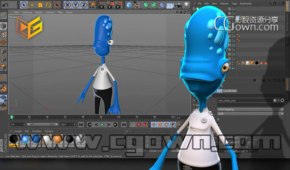 c4d创建卡通人物角色建模教程 digital tutors creating cartoon